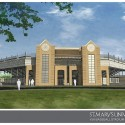 An August 2011 rendering of the baseball stadium component