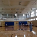Basketball court interior, post-completion (2014)
