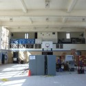 The basketball court interior, prior to project commencement