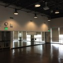 The dance studio, within the new construction portion of the center