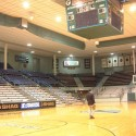 Fieldhouse arena prior to historic rehabilitation - note drop ceiling