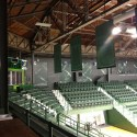 Corner of rehabilitated arena
