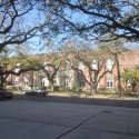 The rehabilitated Devlin Fieldhouse, from across Freret Street