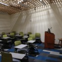 The natural light admitted into the renovated classrooms provides a soothing, contemplative aspect