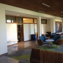 Another perspective of the third-floor lounge, facing faculty offices